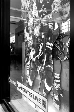 Rogers Game Centre Live black and white
